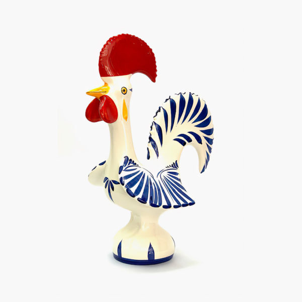 Good Luck Rooster Blue and White 34cm