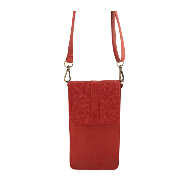 Cadelle Leather Phone Case Red