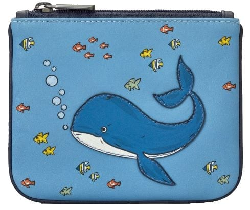 Leather Coin Purse Whale