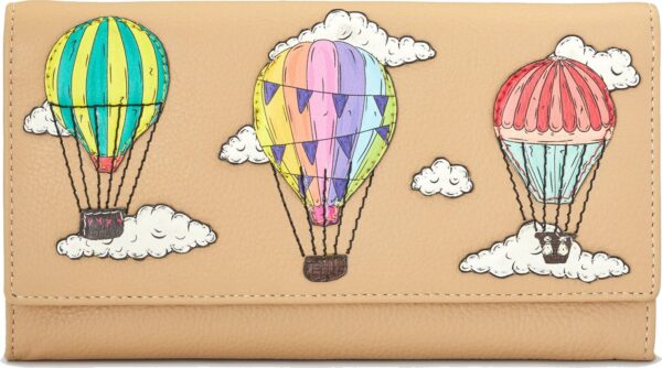 Women's Leather Wallet Clouds