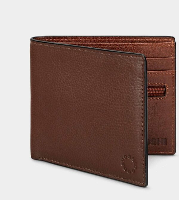 Mens Leather Wallet Brown